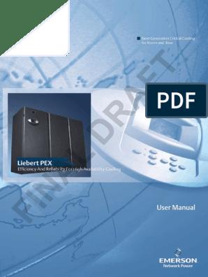 100630 Liebert PEX 2 User Manual - Final Draft pdf | Air