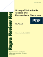 Rapra Review Reports. Mixing of Vulcanisable Rubbers and Thermoplastic Elastomers (Wood P.R.)
