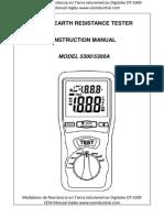 Medidores de Resistencia en Tierra Telurometros Digitales Dt 5300 Cem Manual Ingles