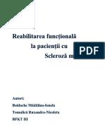 Reabilitarea Functionala La Pacientii Cu SM Tomulica&Boidache