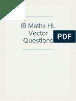IB Maths Hl Vectors Questions