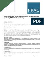 2014 FRAC Code List