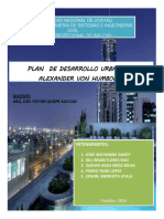 Plan de Desarrollo Urbana de Alexander Von Humbolt(Final)