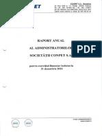 raport  financiar CONPET