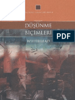 Alfred North Whitehead - Düşünme Biçimleri