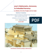 On the Parthenons Mathematics Astronomy