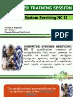 Deliver Training Session TM1 slides