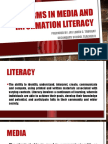 Key Terms in Media and Information Literacy