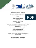 Reporte de investigación y cuadro comparativo de las características de los routers