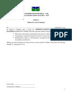Anexo 1 Modelo de Carta de Intencao