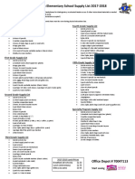 PasadenaElementarySupplyList 2017-2018