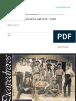 Los Picapedreros de La Paz 1872 - 1928