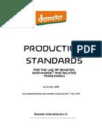 Demeter Biodynamic Production Standards