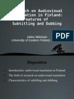 Research on Audiovisual Translation