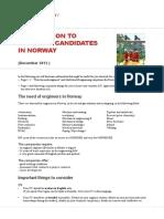 Engineer Candidates Norway
