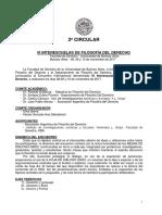 2ª Circular - III Interescuelas de Filosofía Del Derecho