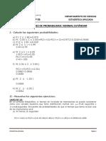 Solución Distribución Normal z