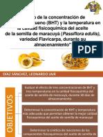 Efecto de La Concentración de Butilhidroxitolueno (