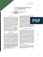 SPE- 5361 a Generalized Method Optimal Estimates