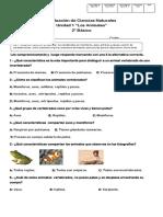 Evaluación Ciencias Naturales Unidad 1