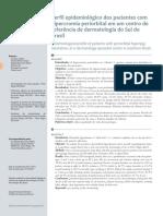 v5 Perfil Epidemiologico Dos Pacientes Com Hipercromia Periorbital Em Um Centro de Referencia de Dermatologia Do Sul Do Brasil