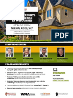 "Brochure, U. Wisconsin's ""Property Rights and Land Use in Wisconsin"" Symposium (July 20, 2017)"