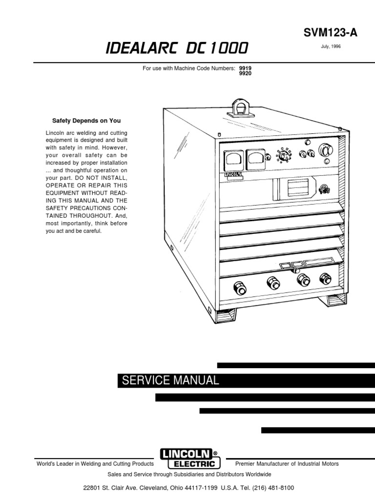 Lincoln Dc 1000 Wiring Diagram Library Arc Welding Machine Dc1000 Service Manualpdf Fuse Electrical Dish Diagrams