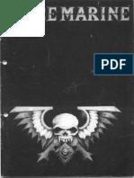 Space Marine 1st Edition Rulebook