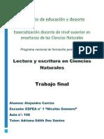 Trabajo final Lectura y escritura en Ciencias Naturales