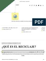 ¿Qué Es El Reciclaje_ - Conciencia Eco