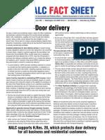 2015 Door Delivery Fact Sheet