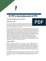 VPH y Las Pruebas Para El VPH