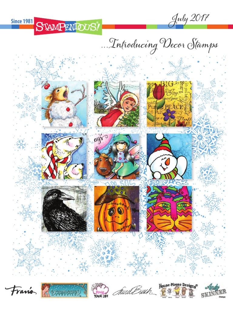 STAMPENDOUS HMCR109 Cling Stamp Paper Bag Masks