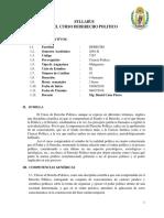 Syllabus de Derecho Politico Junio 2016