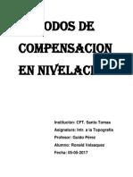 Metodos de Compensacion en Nivelacion