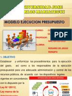 Modelo Ejecucion Presupuesto