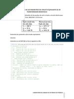 determinacion de Los Parametros Del Circuito Equivalente de Un Transformador Monofasico
