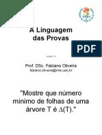 A Linguagem Das Provas