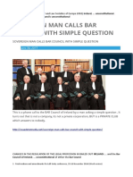 IBAHRI and the Council of Bar and Law Societies of Europe 2002 , Ireland is Unconstitutional.