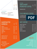 New Order Coffee Menu Preview