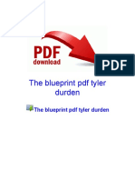 The Blueprint PDF Tyler Durden