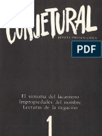 Revista Conjetural Nº 1