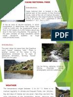 Presentacion Park National Cajas
