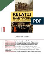 Curs 1 - Relatii Internationale - Teorie Si Politici