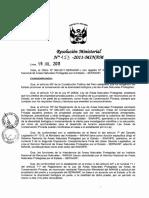 Resolución Ministerial N°153-2011-MINAM