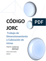 Trabajo de Dimensionamiento y Cubicación de Minas