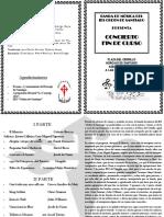 Programa Concierto Fin de Curso Julio 2017