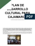 Plan de Desarrollo Cultural Regional