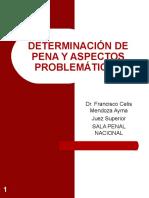 DETERMINACIÓN DE PENA Y ASPECTOS PROBLEMATICOS