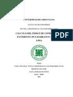 Cálculo Del Indice de Condición Del Pavimento (Pci)